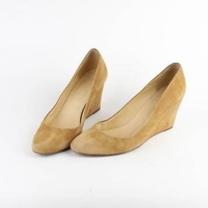 J Crew Womens Shoes Wedge Heels Side Leather Italy